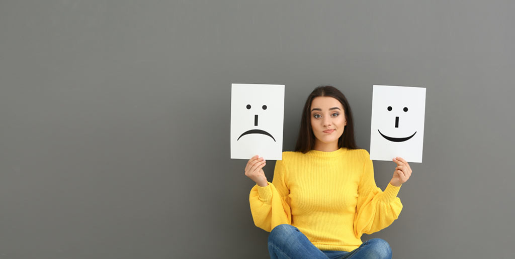 emotions - happy and sad faces